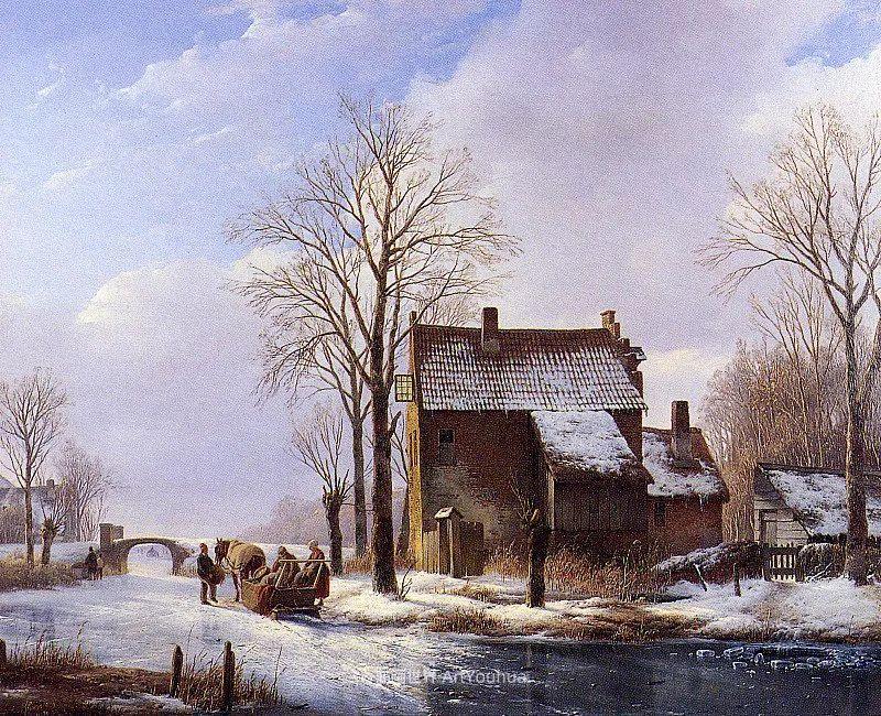 海牙画派先驱,荷兰画家安德烈亚斯·谢尔弗豪特插图57