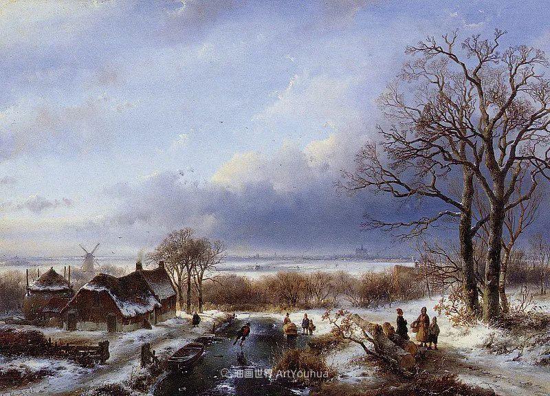 海牙画派先驱,荷兰画家安德烈亚斯·谢尔弗豪特插图59