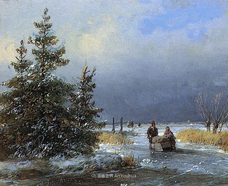 海牙画派先驱,荷兰画家安德烈亚斯·谢尔弗豪特插图61