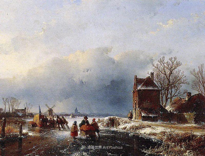 海牙画派先驱,荷兰画家安德烈亚斯·谢尔弗豪特插图63