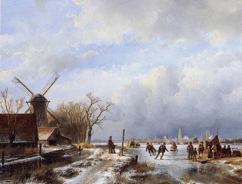 海牙画派先驱,荷兰画家安德烈亚斯·谢尔弗豪特插图65
