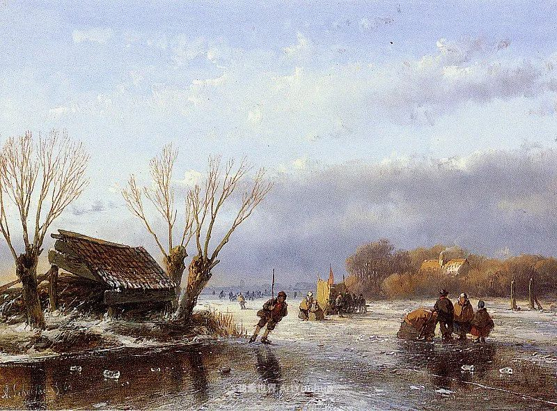 海牙画派先驱,荷兰画家安德烈亚斯·谢尔弗豪特插图67
