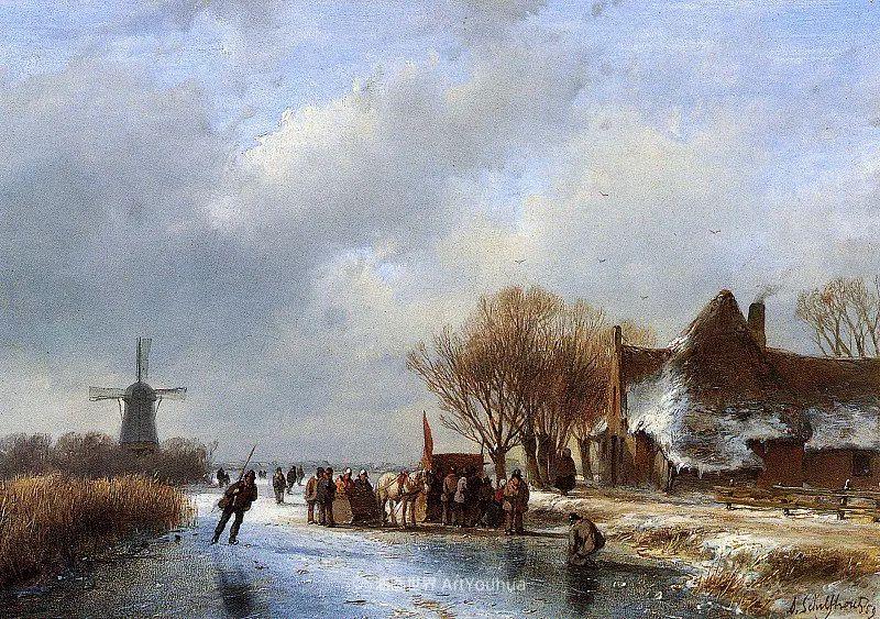 海牙画派先驱,荷兰画家安德烈亚斯·谢尔弗豪特插图69
