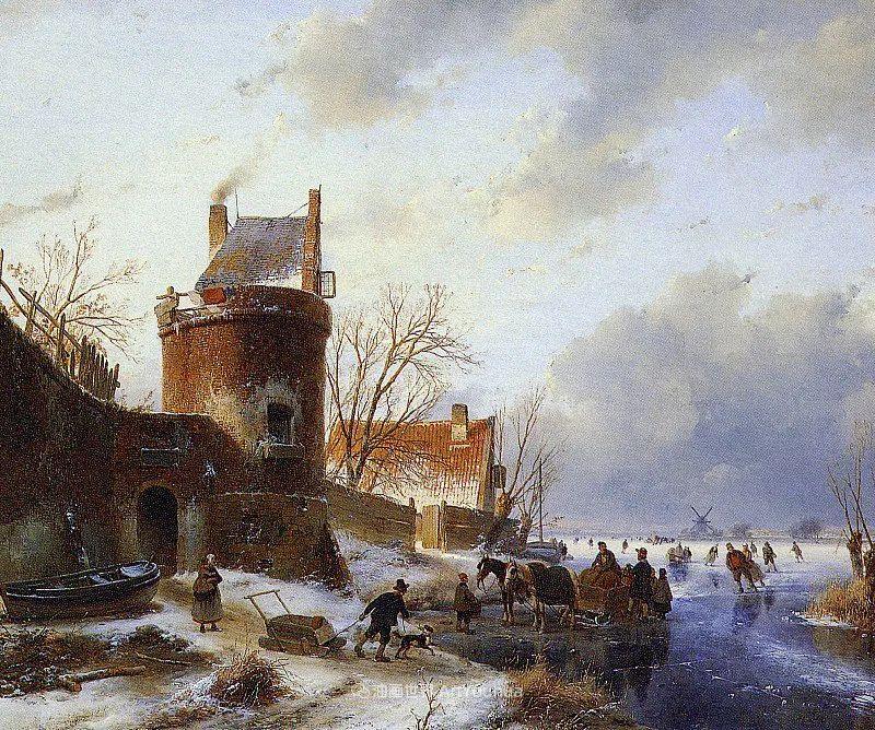 海牙画派先驱,荷兰画家安德烈亚斯·谢尔弗豪特插图71