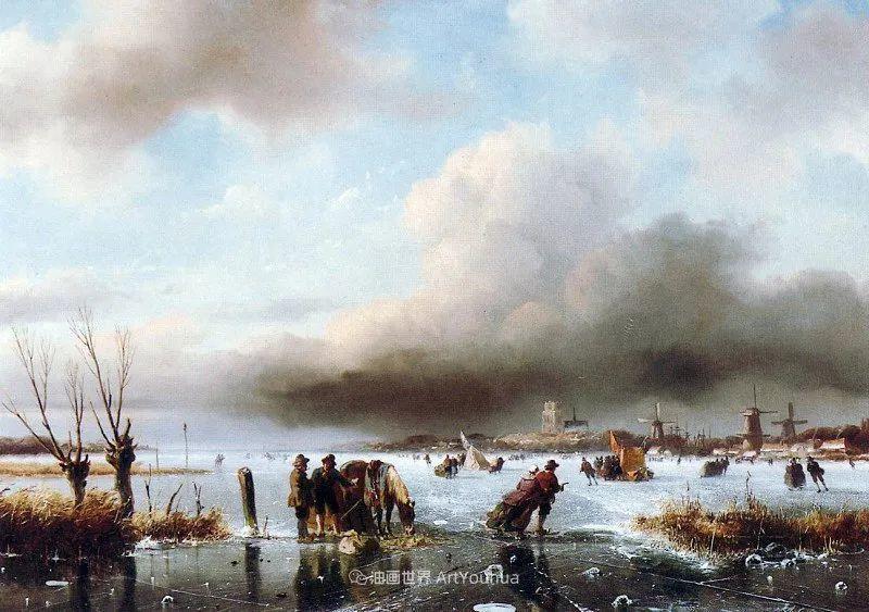 海牙画派先驱,荷兰画家安德烈亚斯·谢尔弗豪特插图73