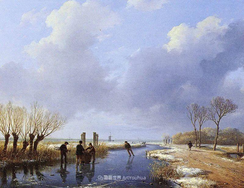 海牙画派先驱,荷兰画家安德烈亚斯·谢尔弗豪特插图75