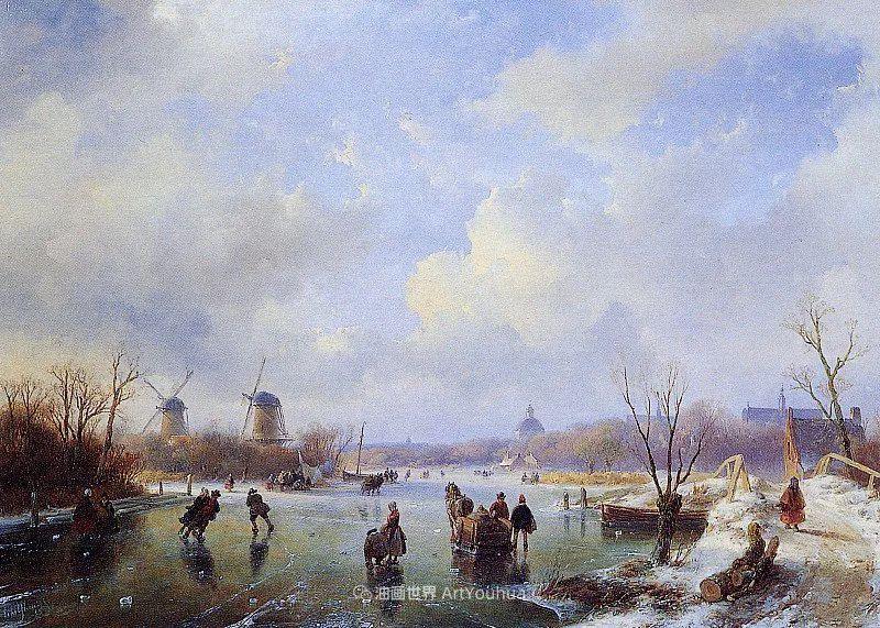 海牙画派先驱,荷兰画家安德烈亚斯·谢尔弗豪特插图77