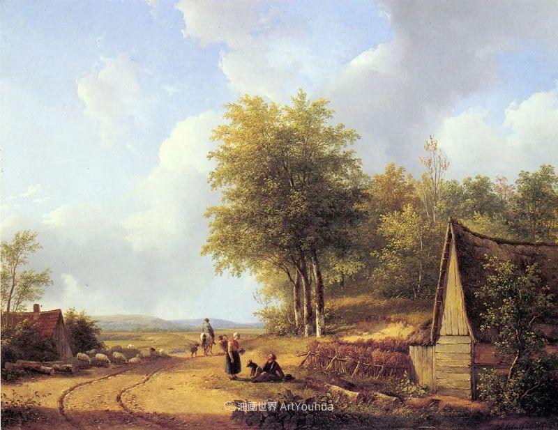海牙画派先驱,荷兰画家安德烈亚斯·谢尔弗豪特插图79