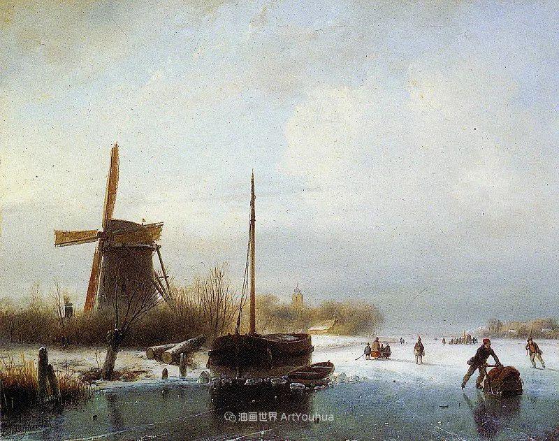 海牙画派先驱,荷兰画家安德烈亚斯·谢尔弗豪特插图81