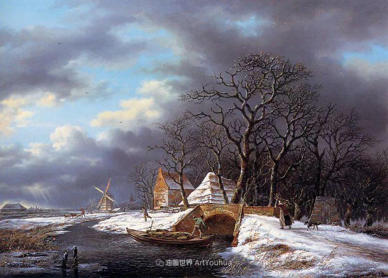 海牙画派先驱,荷兰画家安德烈亚斯·谢尔弗豪特插图83