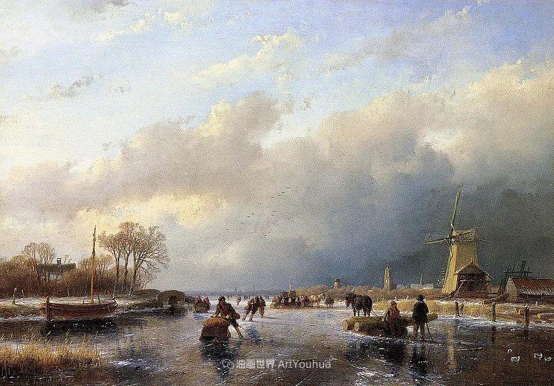 海牙画派先驱,荷兰画家安德烈亚斯·谢尔弗豪特插图85