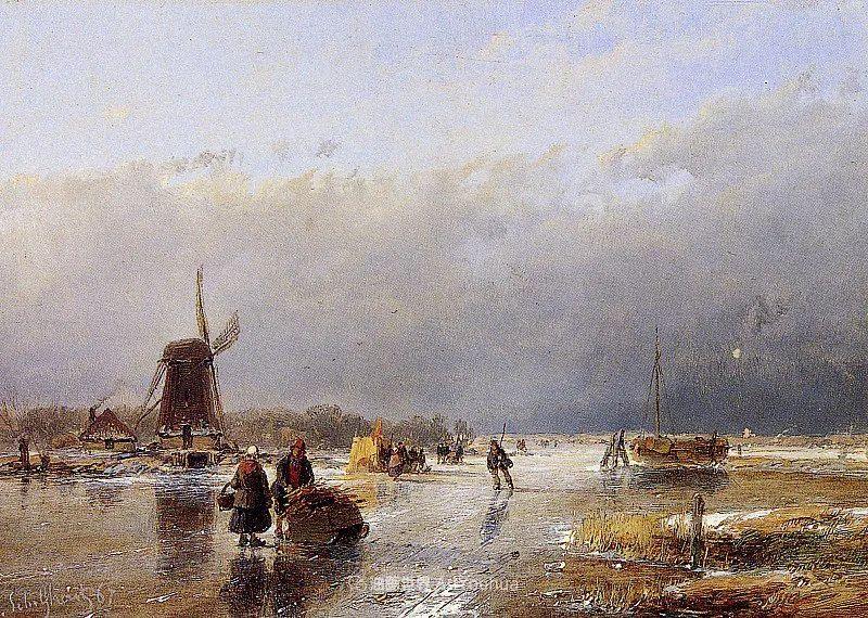 海牙画派先驱,荷兰画家安德烈亚斯·谢尔弗豪特插图89