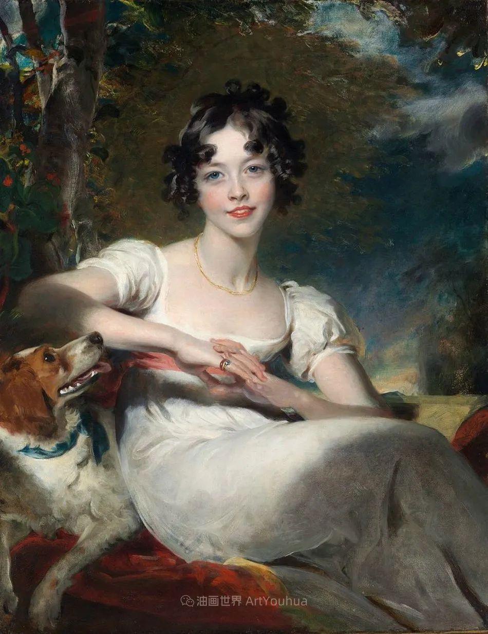 两百年前华丽风格的女性肖像,奔放的笔触、明亮的色彩!插图1
