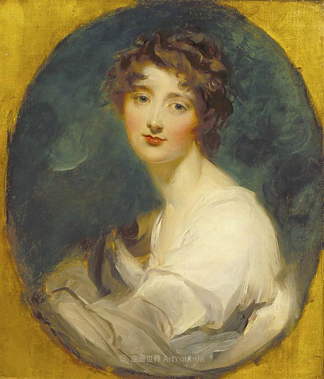两百年前华丽风格的女性肖像,奔放的笔触、明亮的色彩!插图3