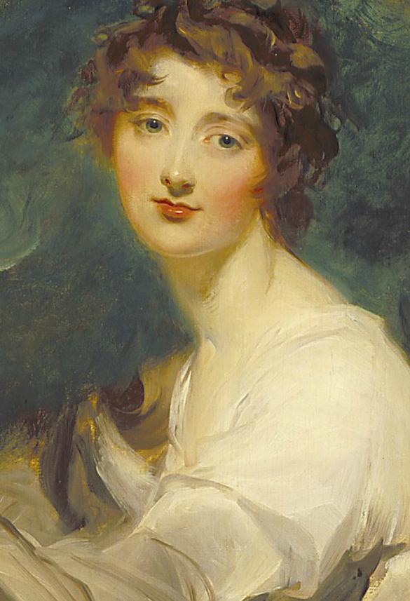 两百年前华丽风格的女性肖像,奔放的笔触、明亮的色彩!插图5