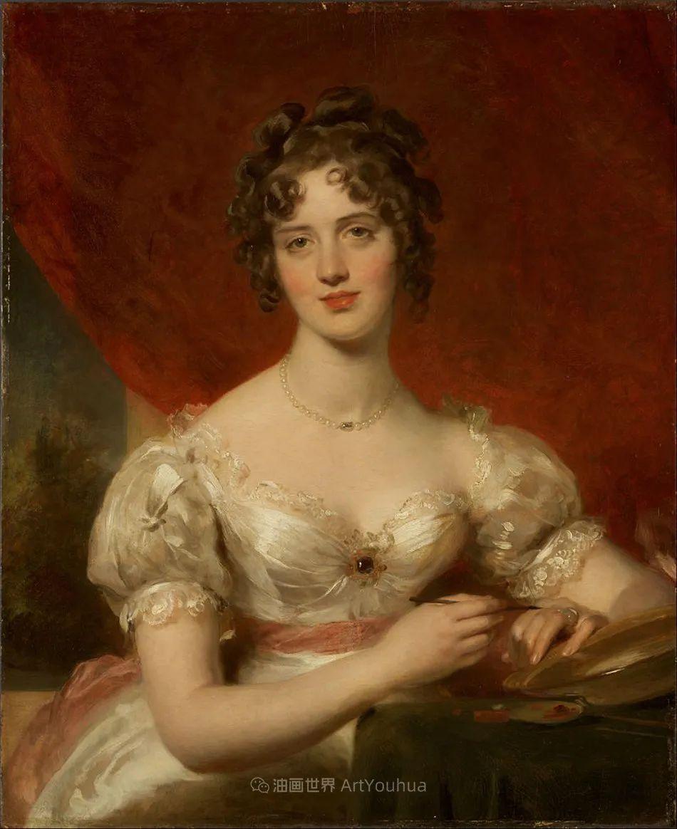 两百年前华丽风格的女性肖像,奔放的笔触、明亮的色彩!插图7