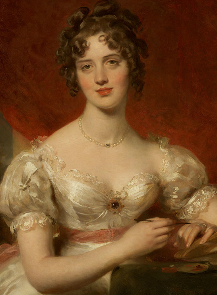 两百年前华丽风格的女性肖像,奔放的笔触、明亮的色彩!插图9