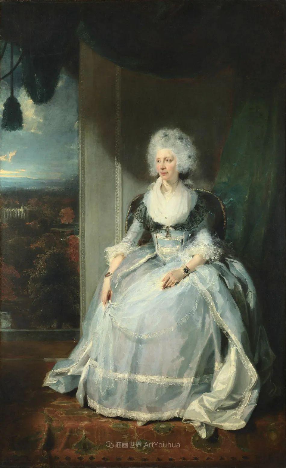 两百年前华丽风格的女性肖像,奔放的笔触、明亮的色彩!插图11