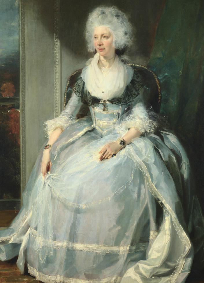 两百年前华丽风格的女性肖像,奔放的笔触、明亮的色彩!插图13