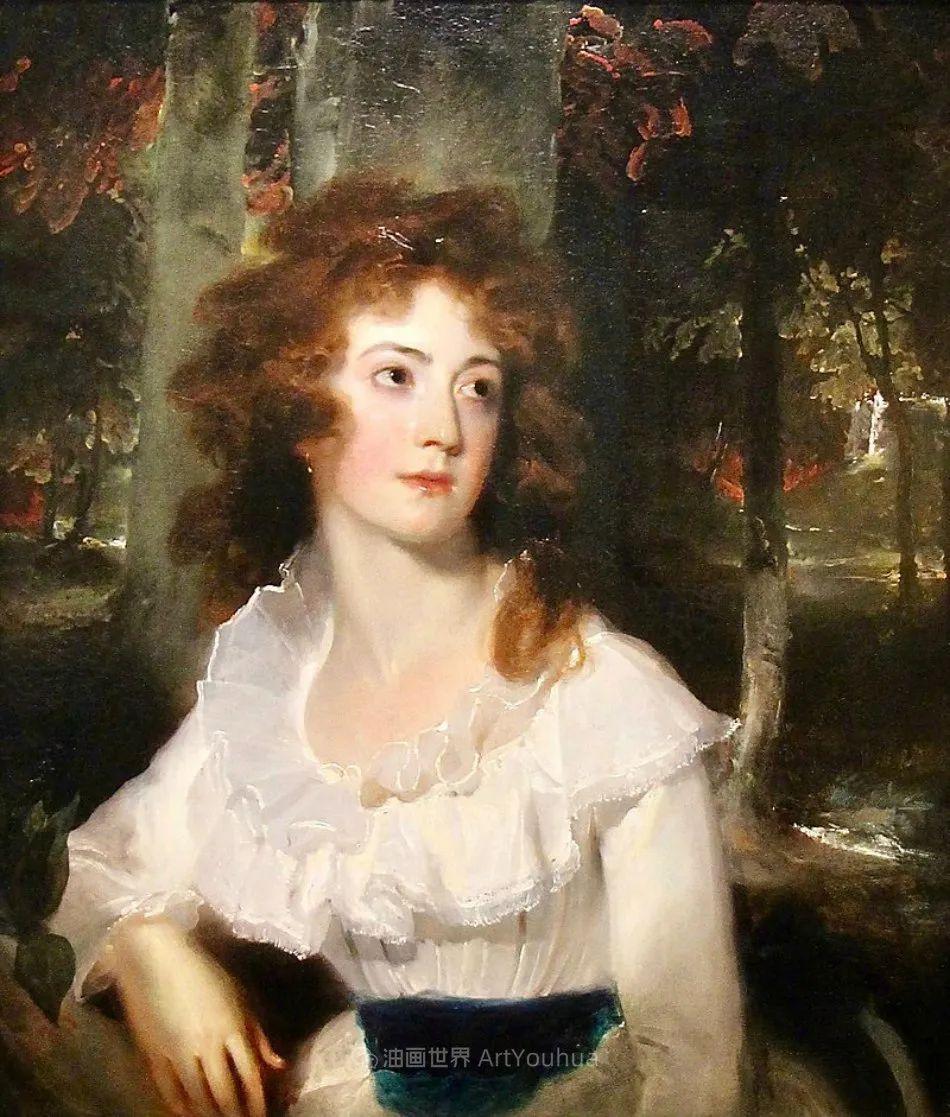 两百年前华丽风格的女性肖像,奔放的笔触、明亮的色彩!插图17
