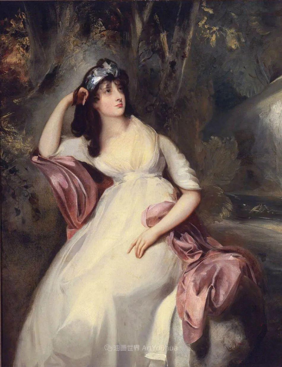 两百年前华丽风格的女性肖像,奔放的笔触、明亮的色彩!插图19