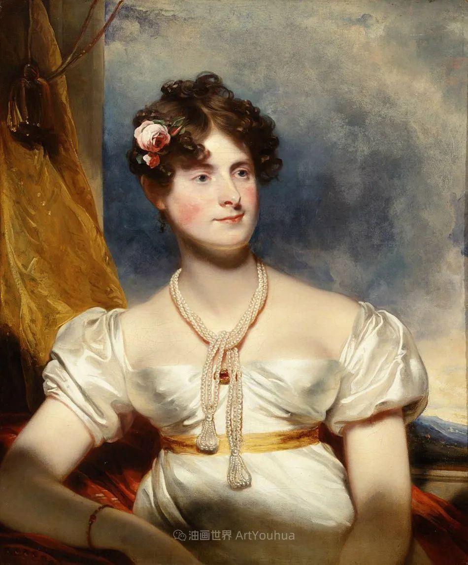 两百年前华丽风格的女性肖像,奔放的笔触、明亮的色彩!插图21