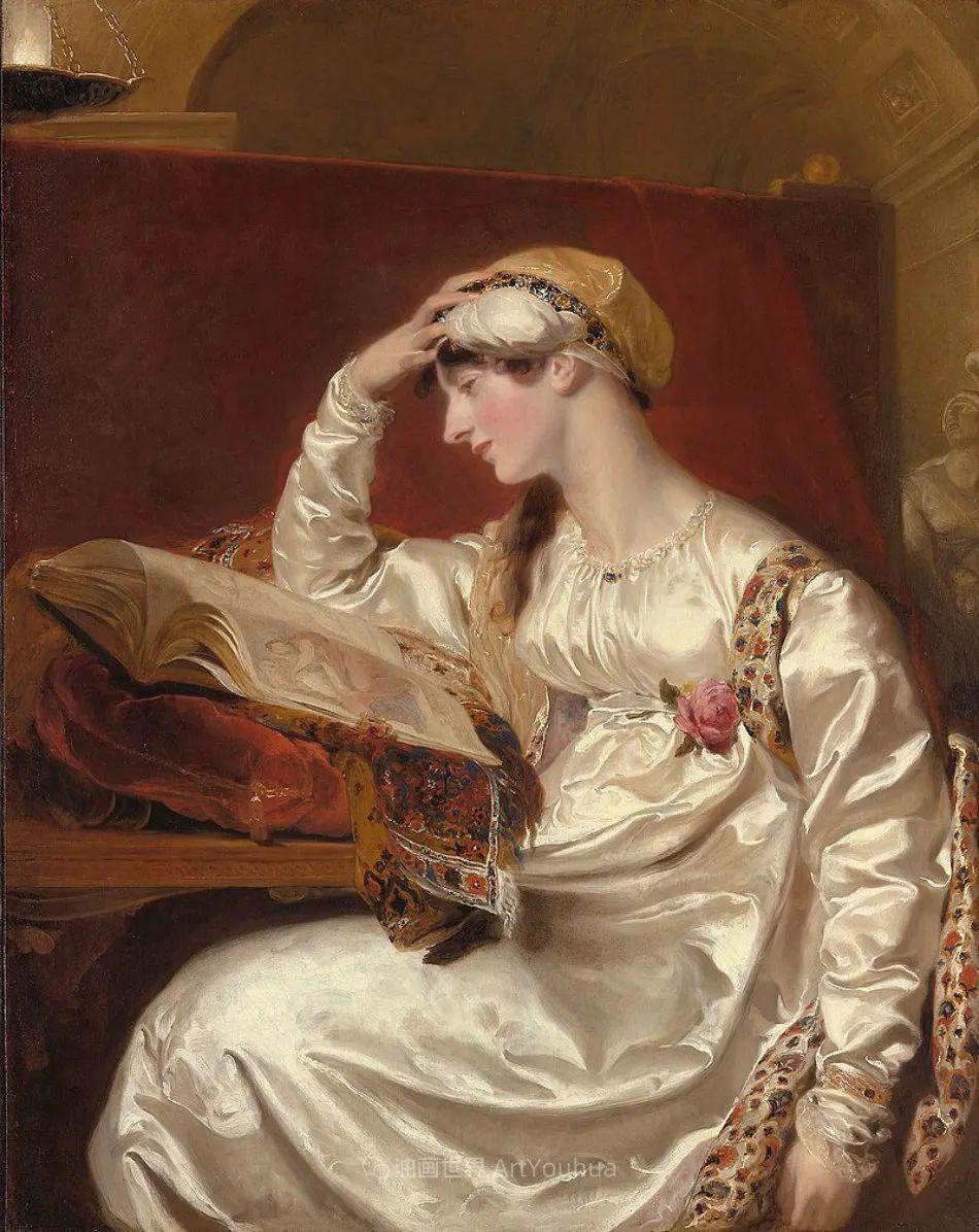 两百年前华丽风格的女性肖像,奔放的笔触、明亮的色彩!插图23