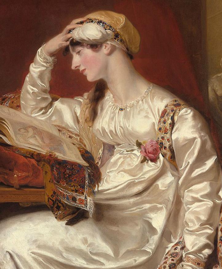 两百年前华丽风格的女性肖像,奔放的笔触、明亮的色彩!插图25