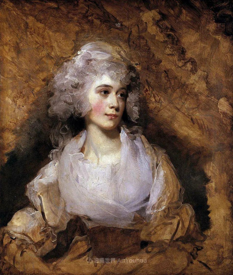 两百年前华丽风格的女性肖像,奔放的笔触、明亮的色彩!插图27