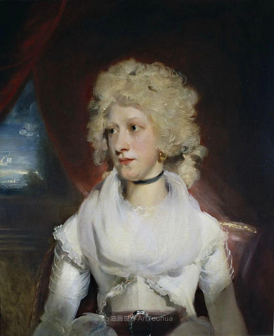 两百年前华丽风格的女性肖像,奔放的笔触、明亮的色彩!插图29