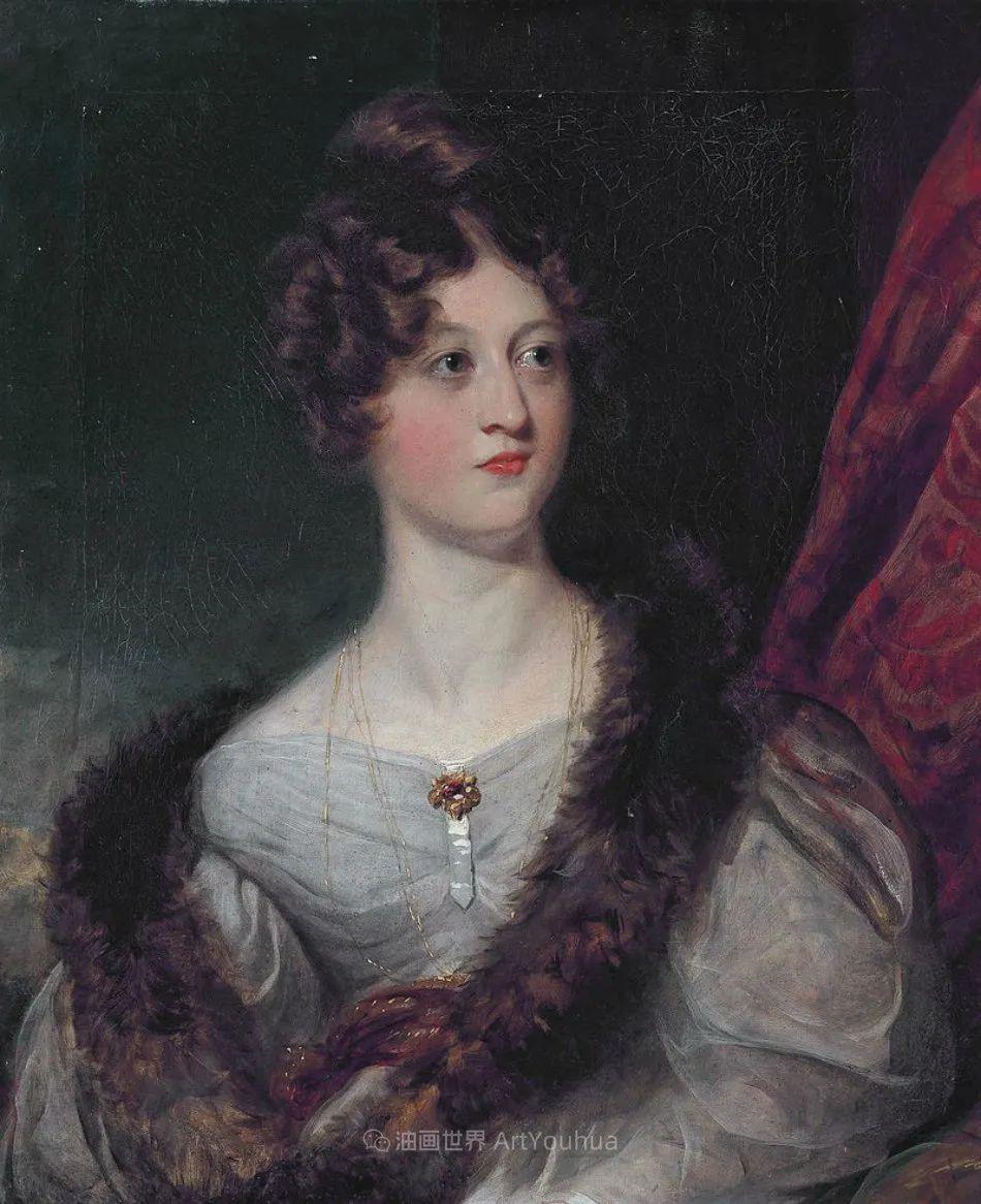 两百年前华丽风格的女性肖像,奔放的笔触、明亮的色彩!插图35