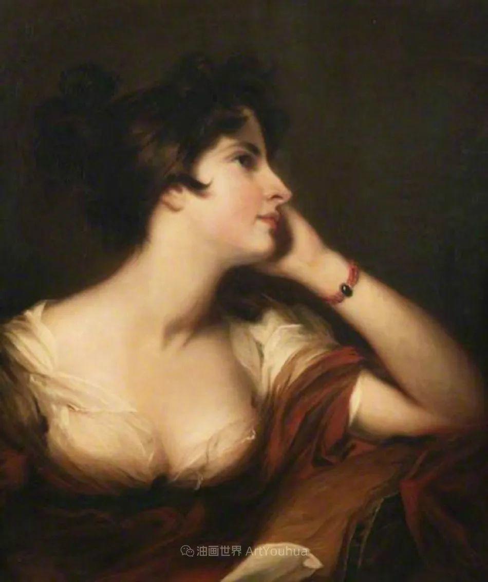 两百年前华丽风格的女性肖像,奔放的笔触、明亮的色彩!插图37