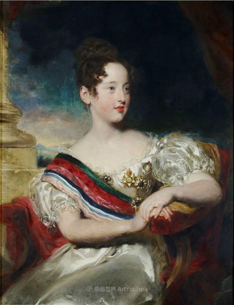 两百年前华丽风格的女性肖像,奔放的笔触、明亮的色彩!插图39