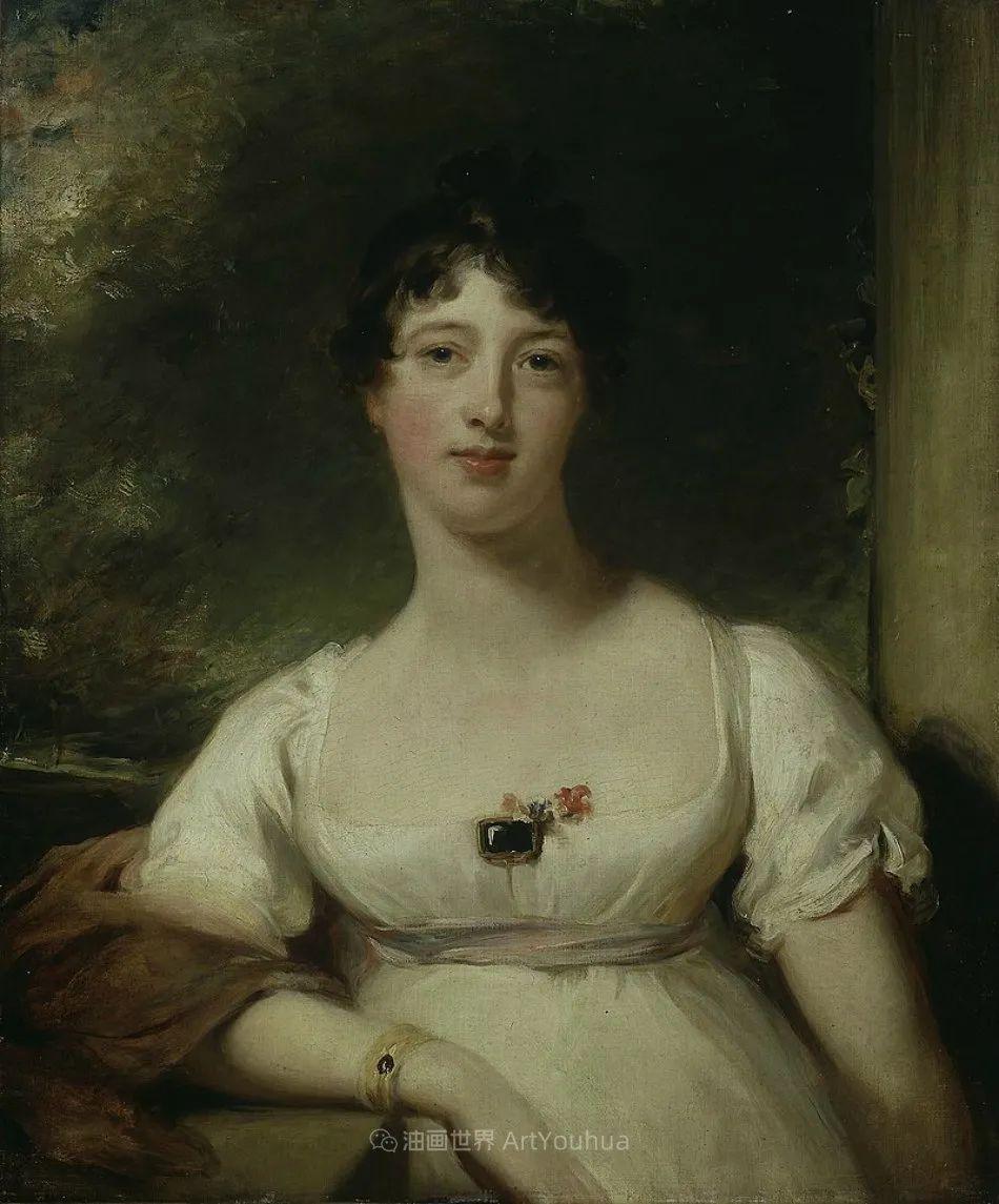两百年前华丽风格的女性肖像,奔放的笔触、明亮的色彩!插图41