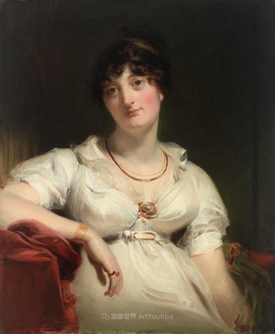 两百年前华丽风格的女性肖像,奔放的笔触、明亮的色彩!插图43
