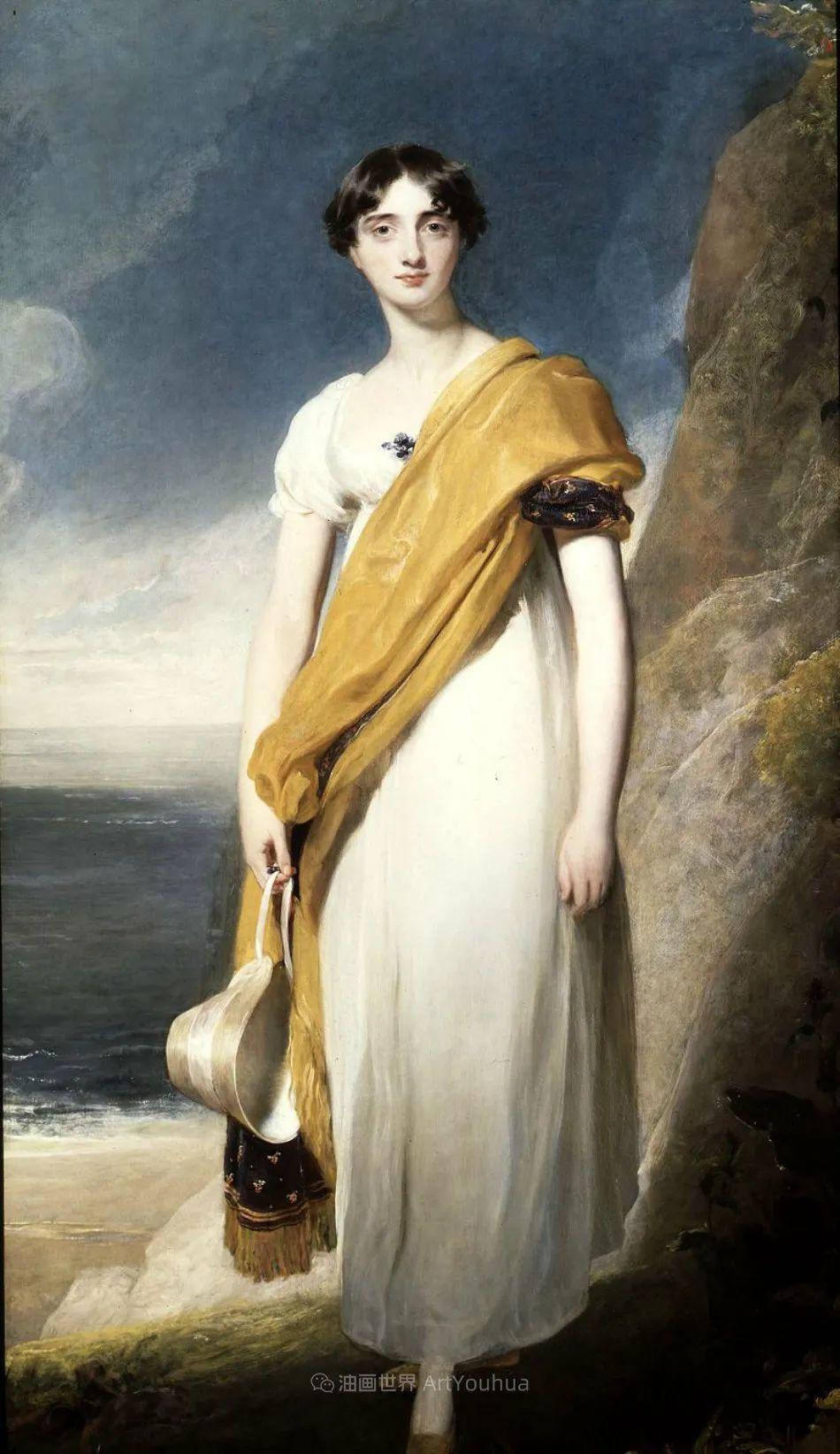 两百年前华丽风格的女性肖像,奔放的笔触、明亮的色彩!插图45