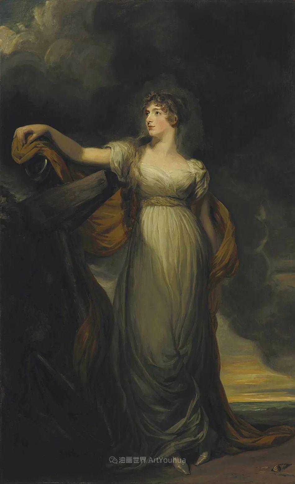 两百年前华丽风格的女性肖像,奔放的笔触、明亮的色彩!插图47