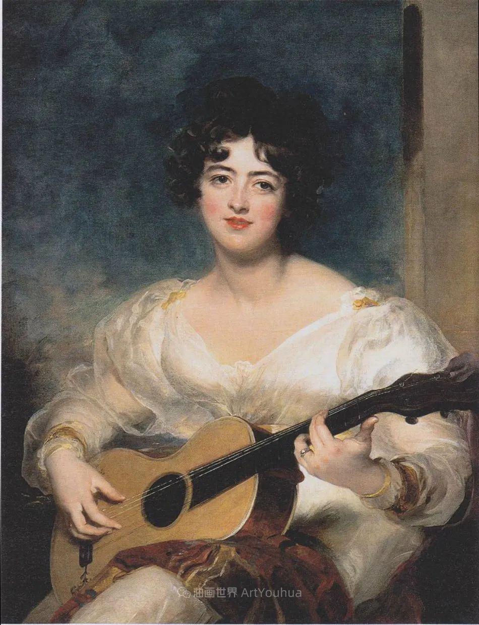 两百年前华丽风格的女性肖像,奔放的笔触、明亮的色彩!插图49