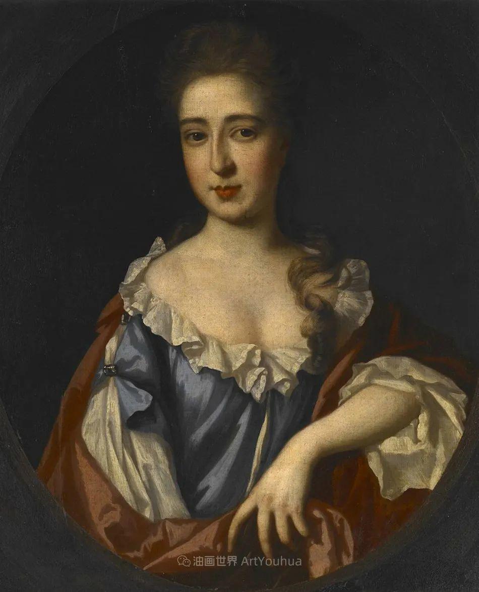 两百年前华丽风格的女性肖像,奔放的笔触、明亮的色彩!插图51