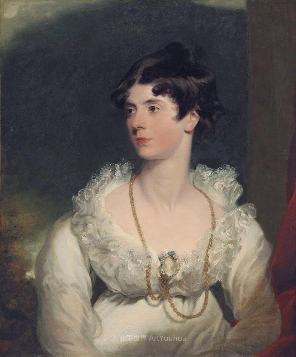 两百年前华丽风格的女性肖像,奔放的笔触、明亮的色彩!插图53