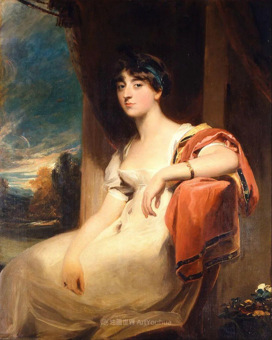 两百年前华丽风格的女性肖像,奔放的笔触、明亮的色彩!插图55