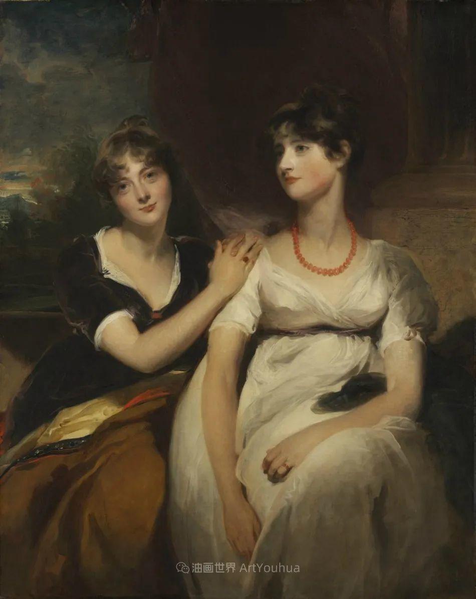 两百年前华丽风格的女性肖像,奔放的笔触、明亮的色彩!插图57