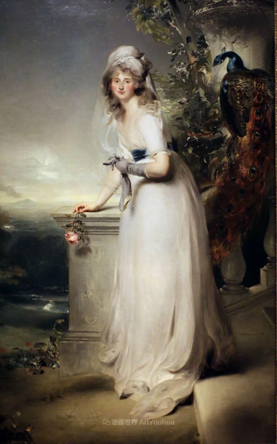 两百年前华丽风格的女性肖像,奔放的笔触、明亮的色彩!插图59