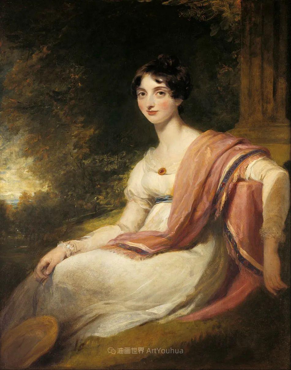 两百年前华丽风格的女性肖像,奔放的笔触、明亮的色彩!插图61