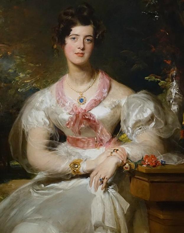 两百年前华丽风格的女性肖像,奔放的笔触、明亮的色彩!插图67
