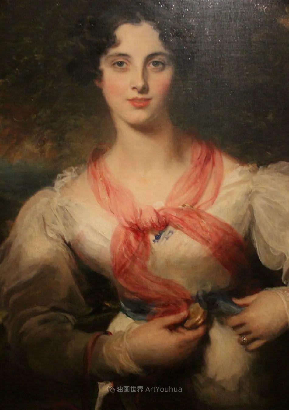 两百年前华丽风格的女性肖像,奔放的笔触、明亮的色彩!插图69