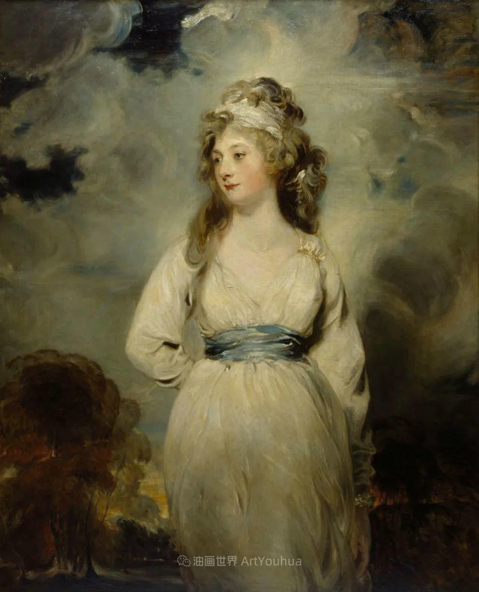两百年前华丽风格的女性肖像,奔放的笔触、明亮的色彩!插图71