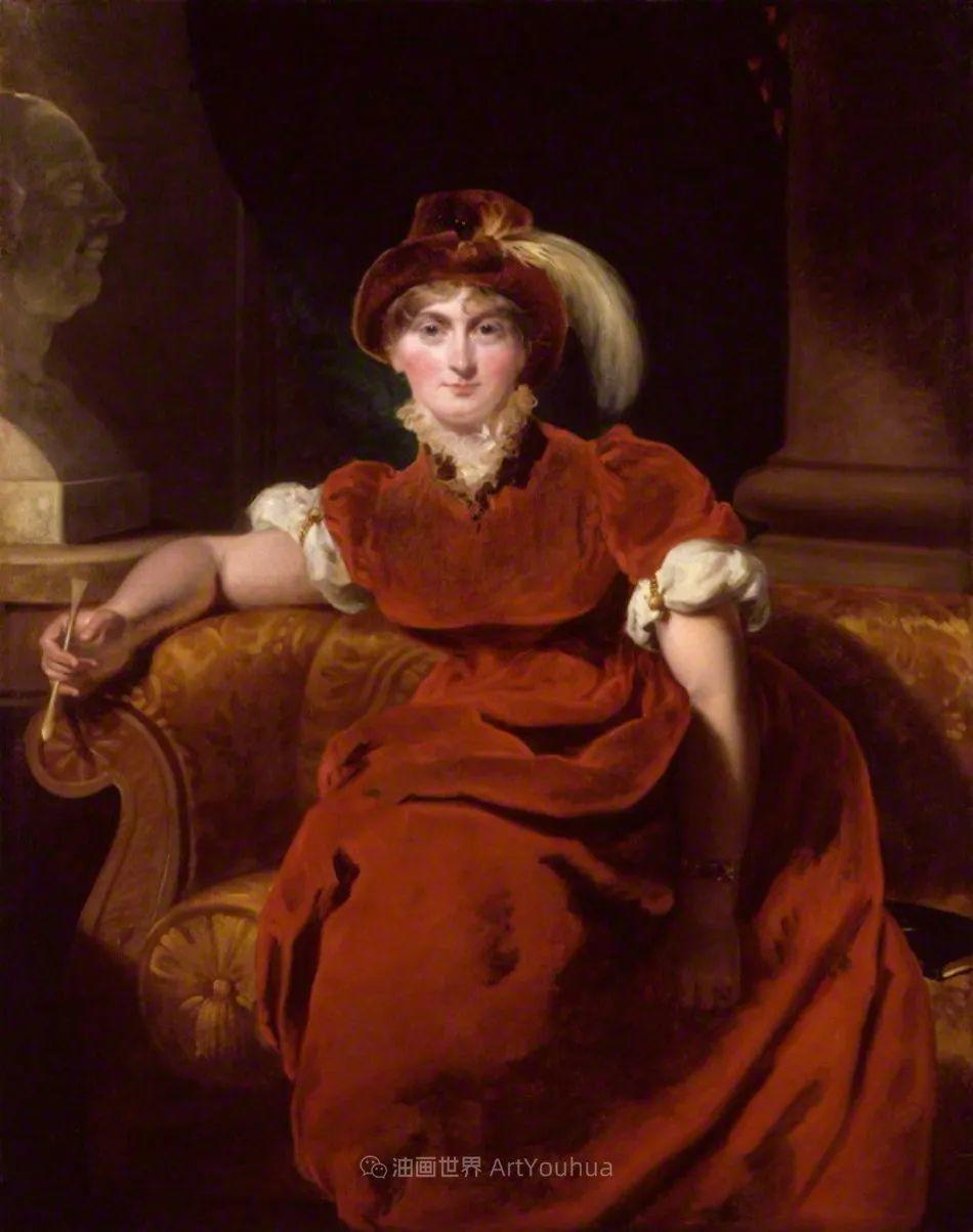 两百年前华丽风格的女性肖像,奔放的笔触、明亮的色彩!插图73