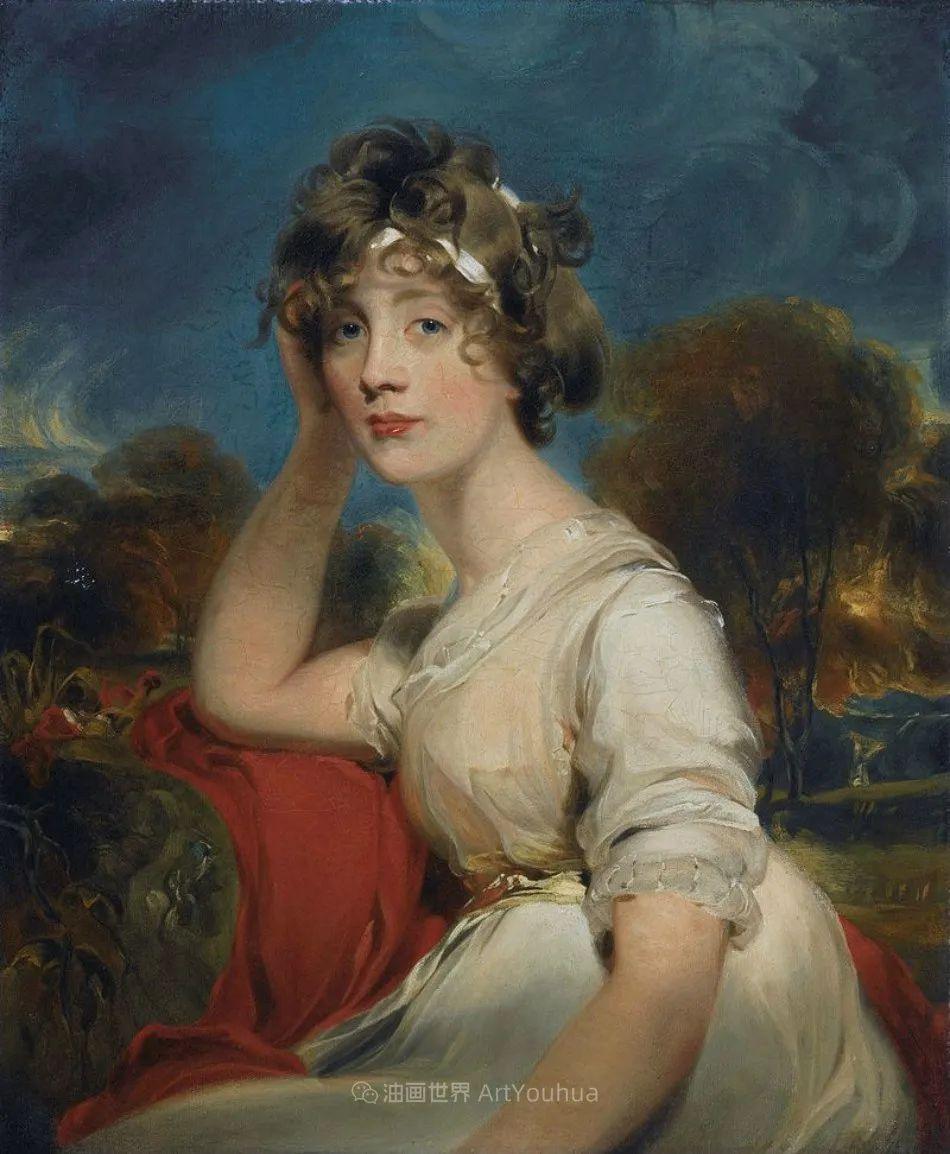 两百年前华丽风格的女性肖像,奔放的笔触、明亮的色彩!插图77