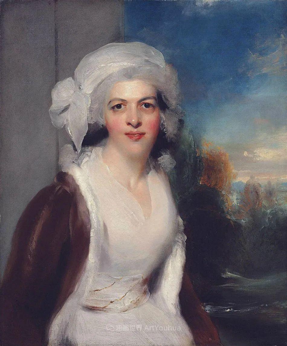 两百年前华丽风格的女性肖像,奔放的笔触、明亮的色彩!插图79